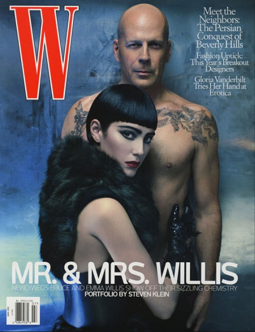 W Magazine - Bruce Willis