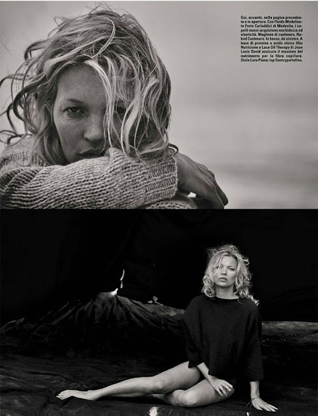 Kate Moss - Peter Lindbergh - Vogue Italy October 2016