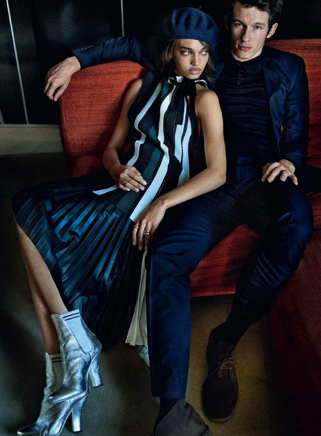 Vogue May 2017 - Ellen Rosa and Callum Turner by Mario Testino