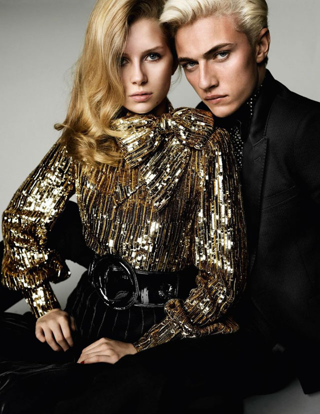 Vogue France - Mario Testino - Lottie Moss & Lucky Blue Smith