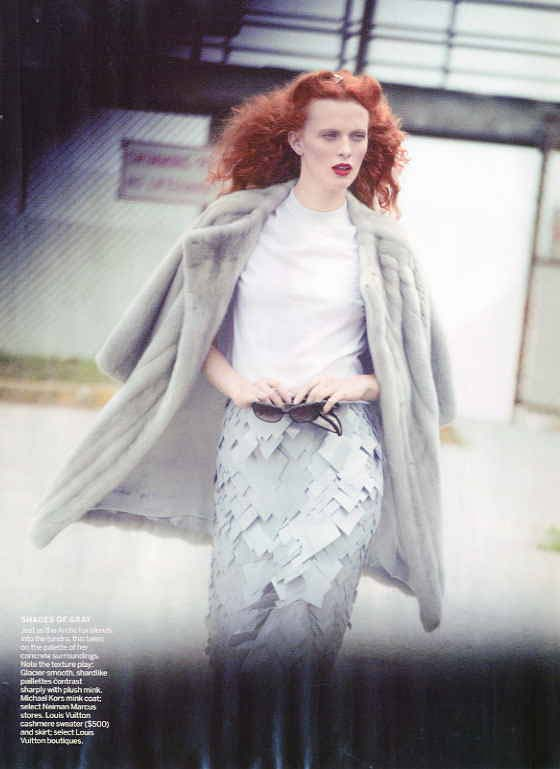 VOGUE US - Peter Lindbergh - Karen Elson