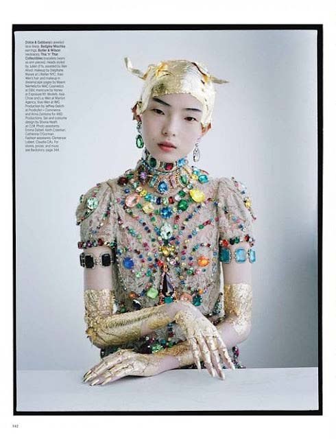 W Magazine - Tim Walker - Liu Wen