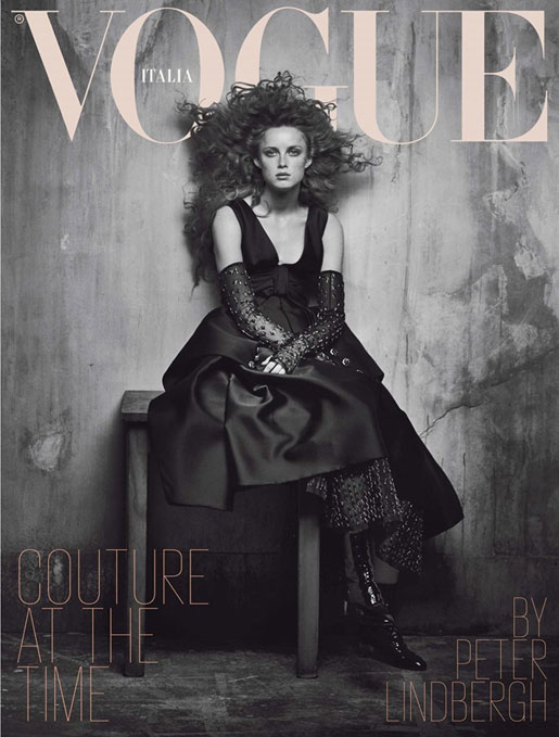 Cover 	- Vogue Italy Septembre 2017 - Peter Lindbergh - Rianne Van Rompaey - Natalie Westling