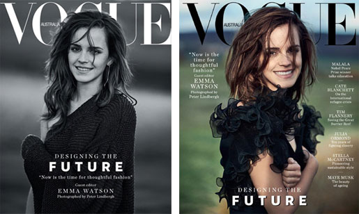 Cover Vogue Australia March 2018 - Peter Lindbergh - Emma Watson